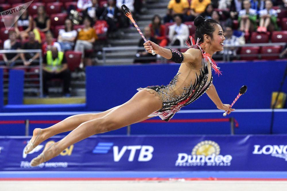 Laura Zeng (Estados Unidos) durante la final en Sofía.