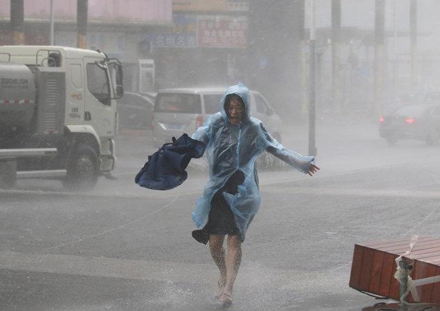 Las consecuencias del supertifón Mangkhut en la ciudad china de Shenzhen