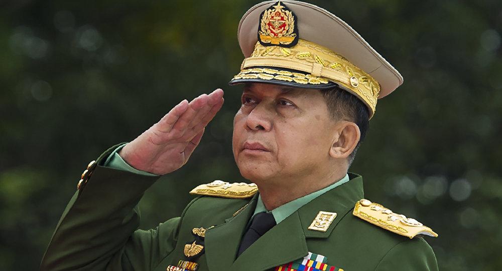 Min Aung Hlaing, el comandante en jefe de las Fuerzas Armadas (Tatmadaw) de Birmania