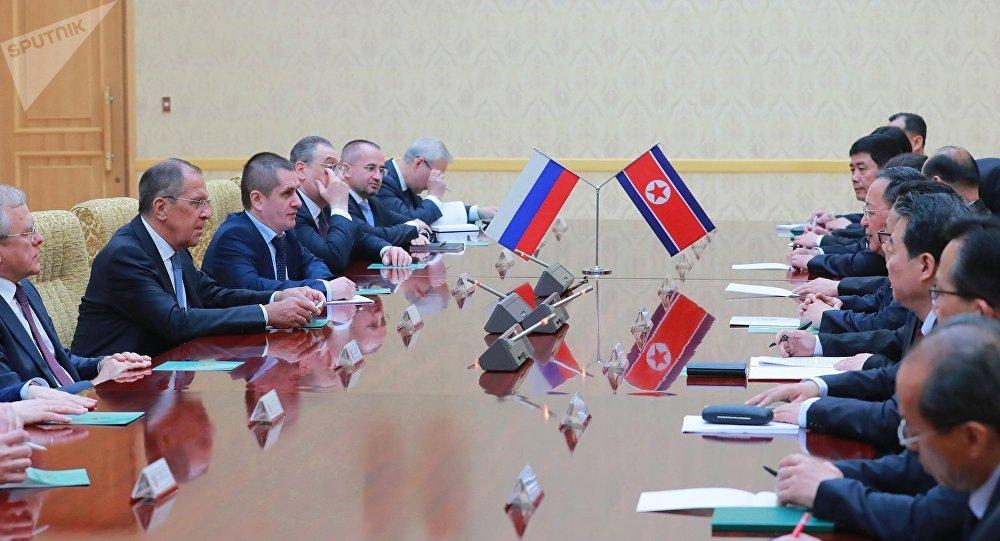 La visita del ministro de Asuntos Exteriores ruso Serguéi Lavrov a Corea del Norte (archivo)