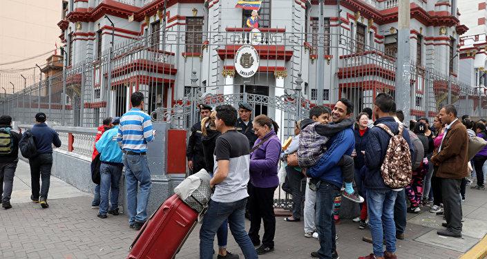 Los migrantes venezolanos en Perú