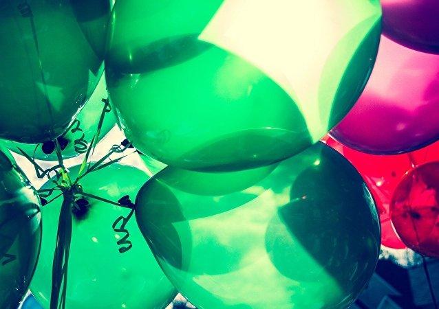 Unos globos de aire
