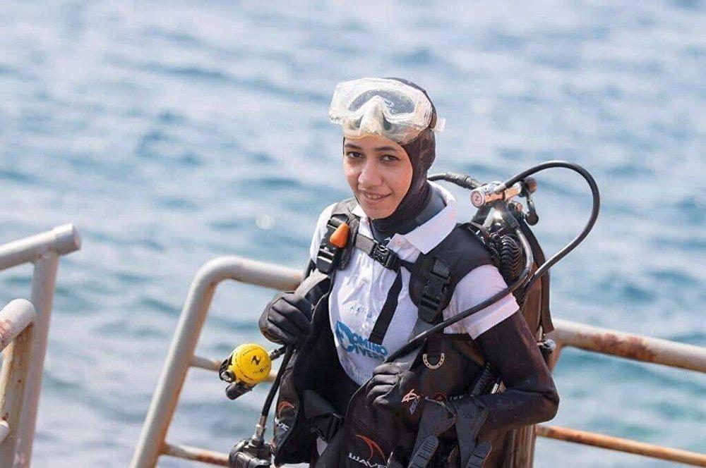 Mariam Hamed Fardous, buceadora saudí