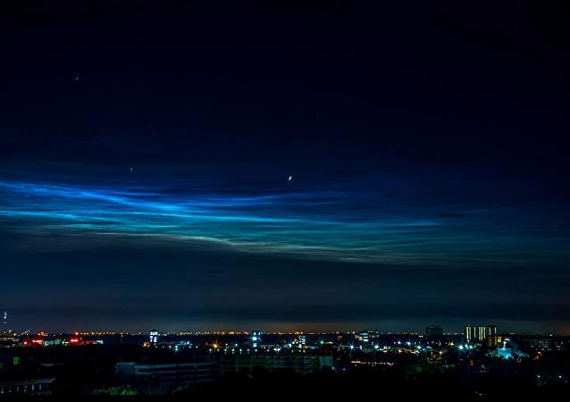La NASA comparte vídeo de las nubes noctilucentes