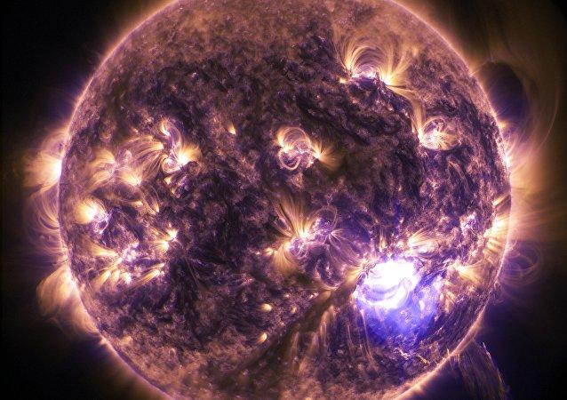 Una tormenta solar