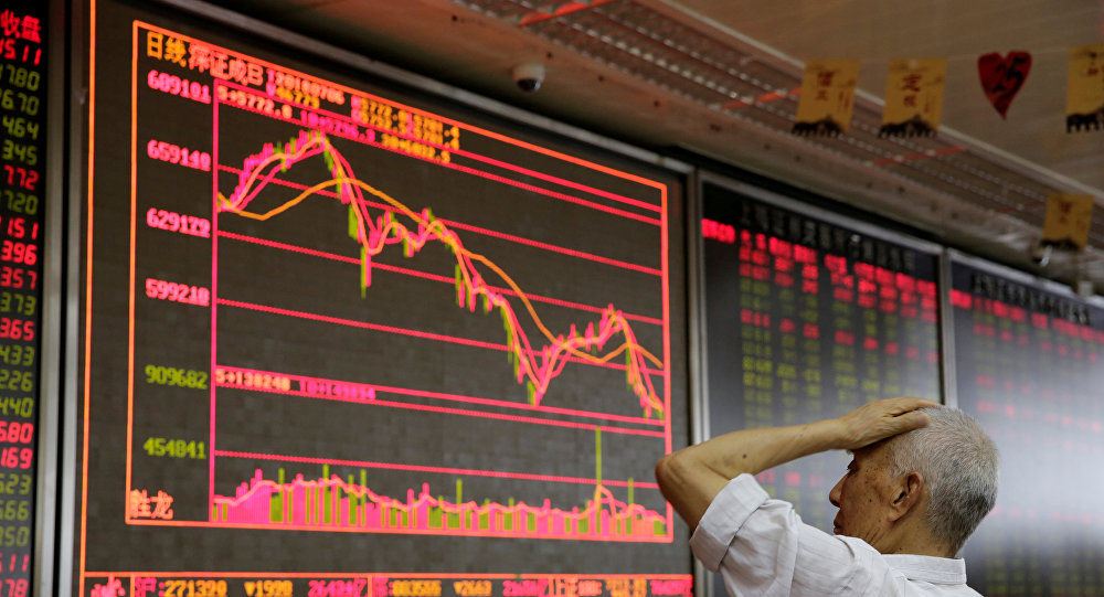 Bolsa en China (imagen referencial)