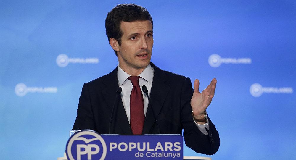 Pablo Casado, el presidente del PP