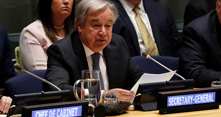 António Guterres, secretario general de la Organización de las Naciones Unidas (ONU) (archivo)