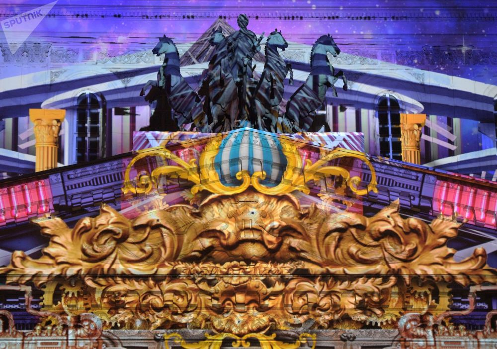 Las proyecciones del Círculo de Luz dan vida a emblemáticos edificios rusos