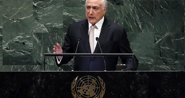 Michel Temer, presidente de Brasil en la Asamblea General de la ONU