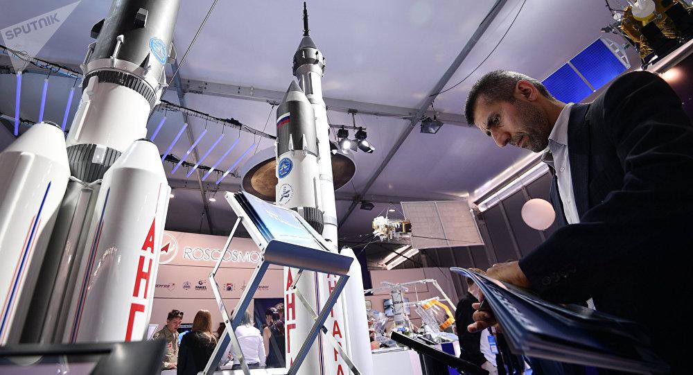 Maqueta del cohete Angara A5