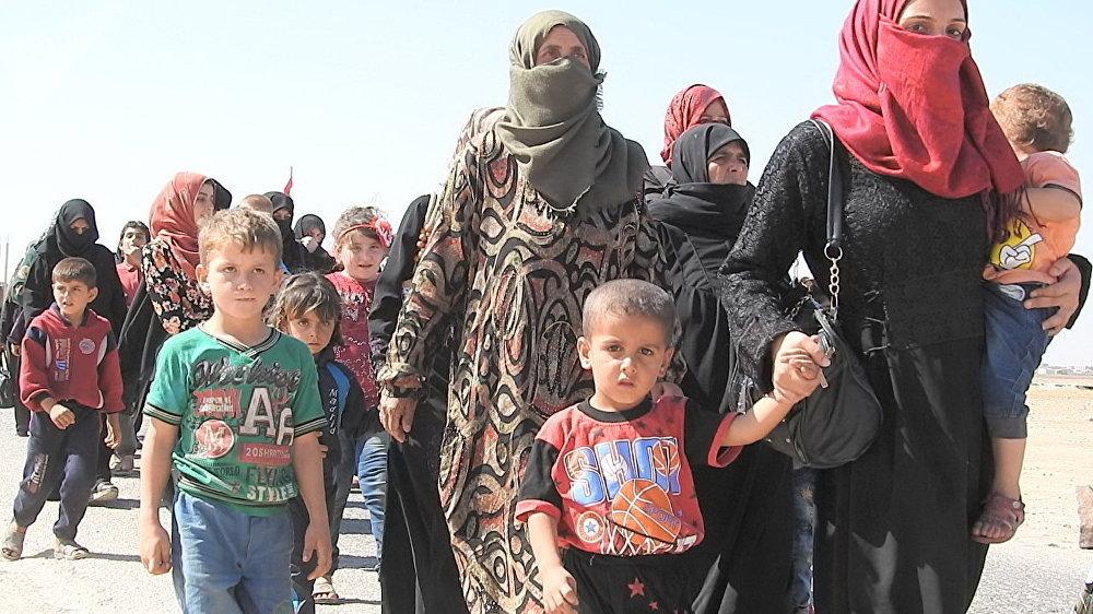 Civiles sirios en Abu al Duhur
