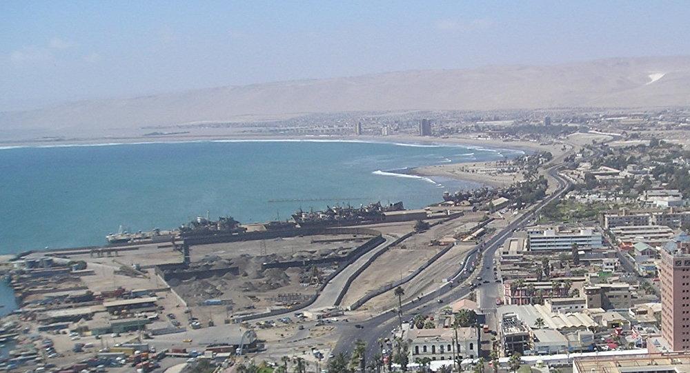 La ciudad puerto de Arica, Chile