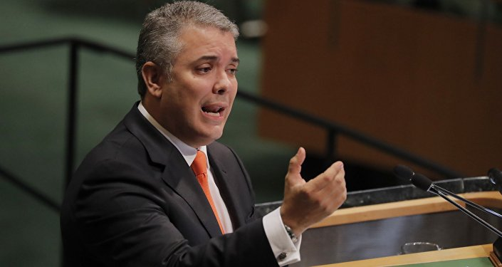 Iván Duque, presidente de Colombia, en la Asamblea General de la ONU