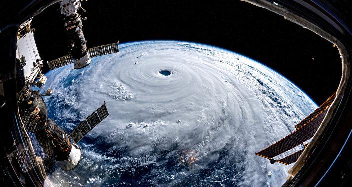 El tifón Trami visto desde el espacio