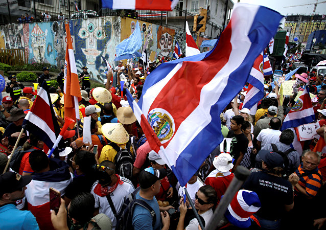 Las protestas de los empleados del sector público en Costa Rica