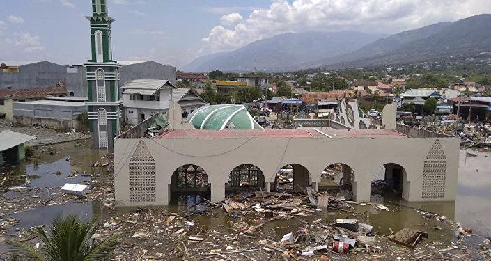 Las consecuncias del terremoto en Indonesia