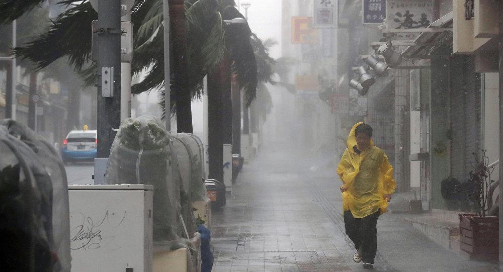 La llegada del tifón Trami