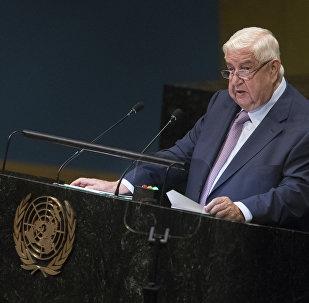 El ministro de Exteriores de Siria, Walid Mualem