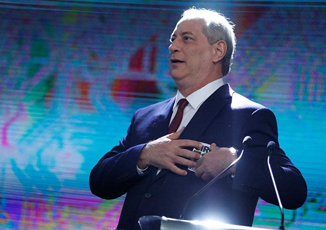 Ciro Gomes, candidato presidencial del Partido Democrático Laborista (PDT) de Brasil