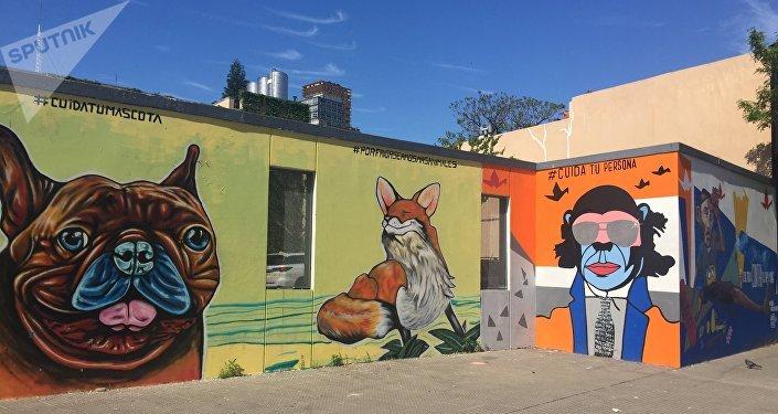 Murales en el barrio de Palermo, Buenos Aires, Argentina
