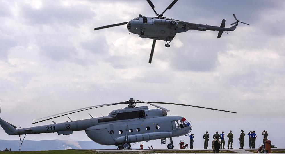 Un helicóptero de la OTAN (archivo)