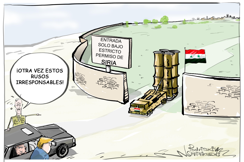Esos rusos irresponsables con sus envíos de los sistemas antiaéreos a Siria