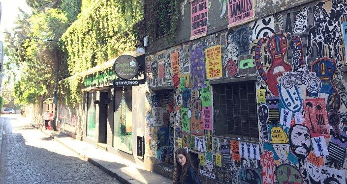 Fachadas de negocios en Palermo, Buenos Aires, Argentina