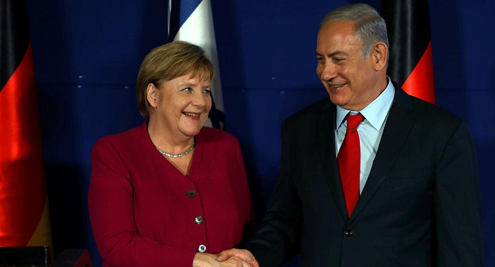 La canciller alemana, Angela Merkel, y el primer ministro, Benjamin Netanyahu