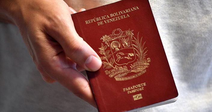Un pasaporte venezolano