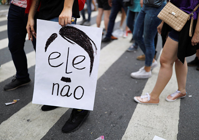 Protesta contra Bolsonaro en Brasil