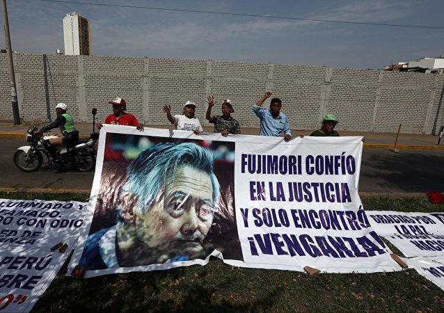 Partidarios de Alberto Fujimori