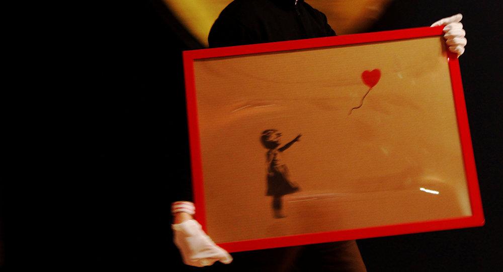 'Niña con balón', la obra de Banksy