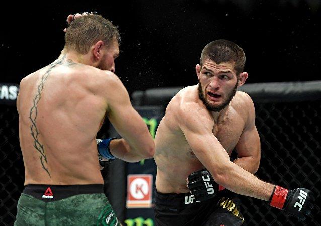 El peleador ruso de artes marciales Khabib Nurmagomedov