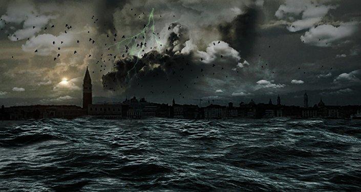 Una tormenta en el mar