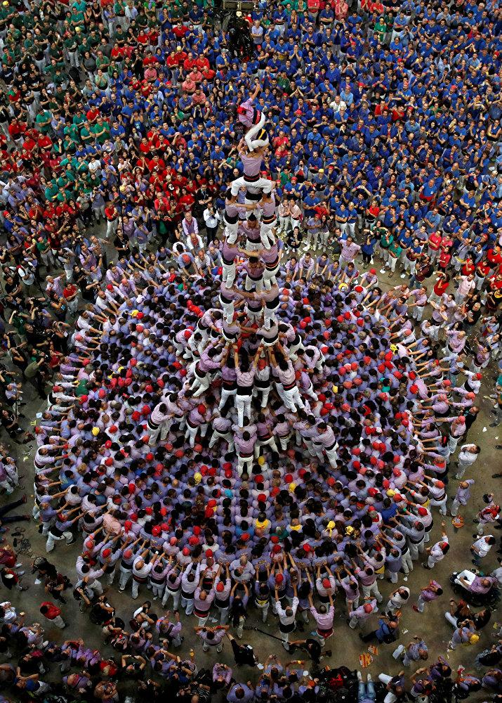 Así son los 'castellers': las pirámides humanas de Cataluña