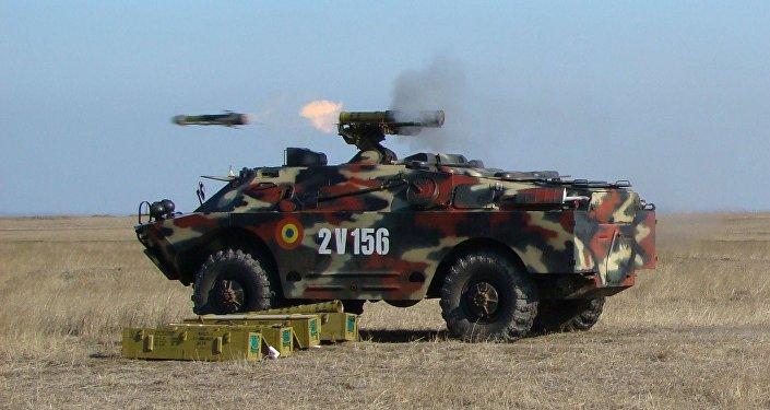 Un 9P148 de las Fuerzas Armadas de Rumania, foto archivo