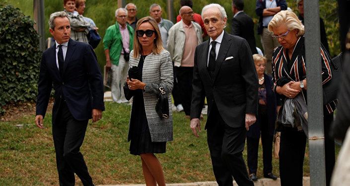 José Carreras, tenor español, asiste el funeral de Montserrat Caballé