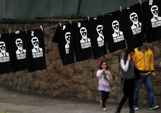 Las camisetas con imágenes de Jair Bolsonaro en Brasil