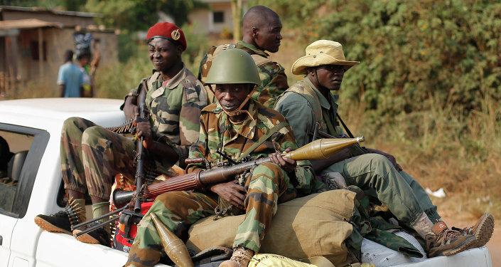 Militares en la República Centroafricana