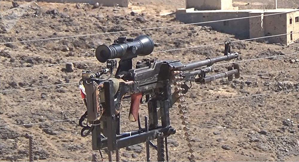 Un sirio crea un sistema de defensa con un fusil ruso