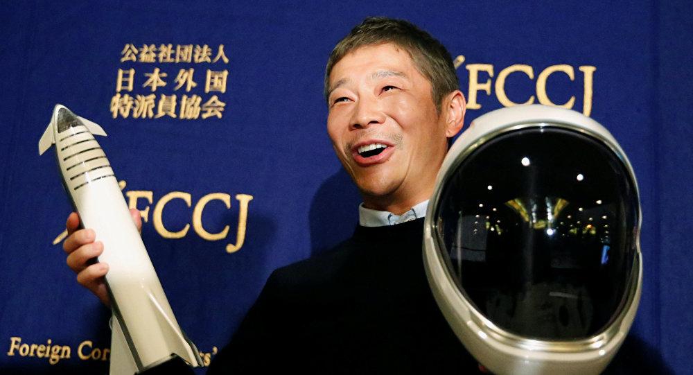 El multimillonario japonés Yusaku Maezawa