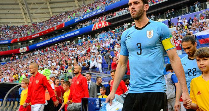 Diego Godin, capitán de Uruguay