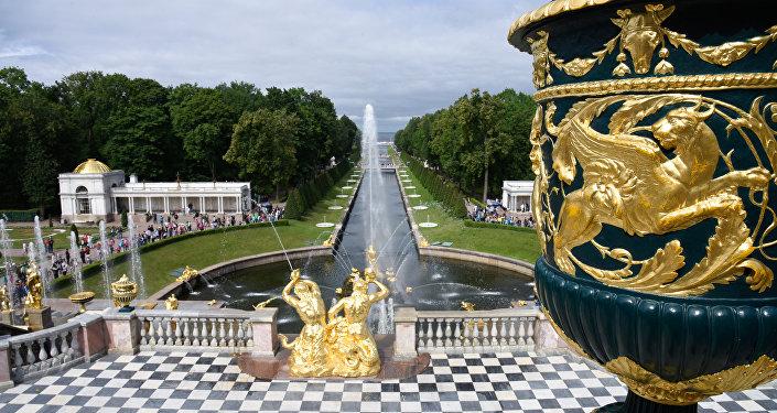 El palacio de Peterhof, San Petersburgo