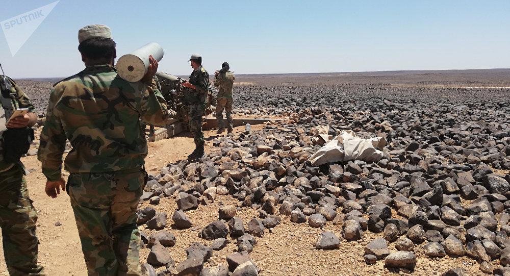 El Ejército sirio en la región de Tulul al Safa