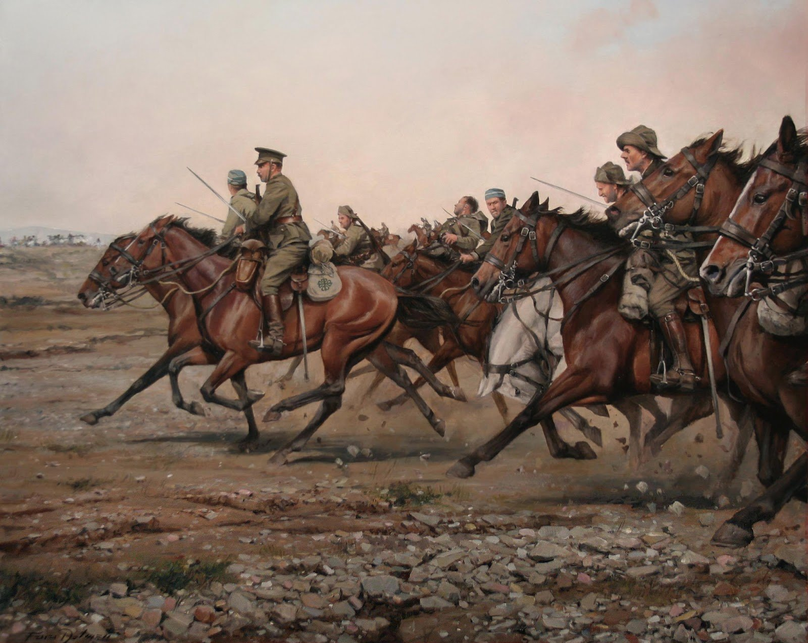 'Carga del río Igan el Regimiento Alcántara' (2013), obra de Ferrer-Dalmau