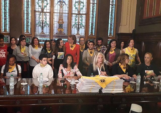 Representantes de más de 80 colectivos que impulsaron la recolección de firmas