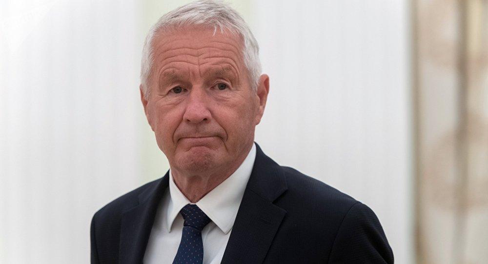Thorbjorn Jagland, el secretario general del Consejo
