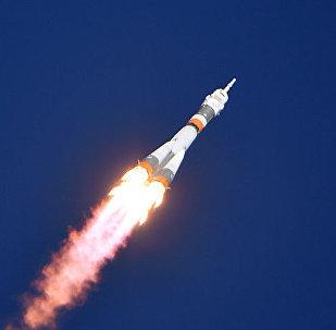 El momento exacto de la avería del cohete portador Soyuz