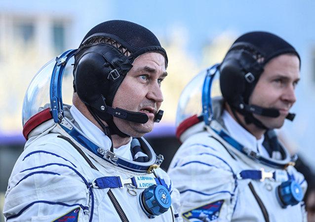 El ruso Alexéi Ovchinin y el estadounidense Nick Hague